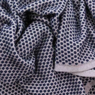 Remy Bubble Cotton Scarf - Blue/Grey
