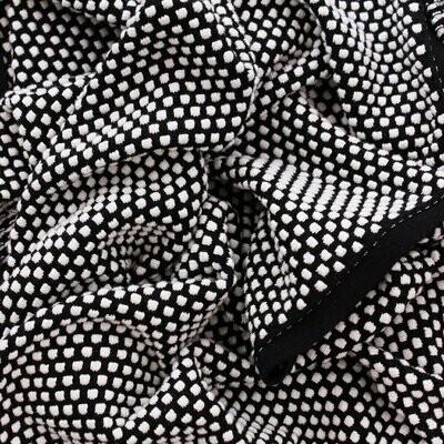 Remy Bubble Cotton Scarf - White/Black