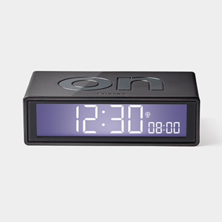 Flip Clock - Glossy Gun Metal