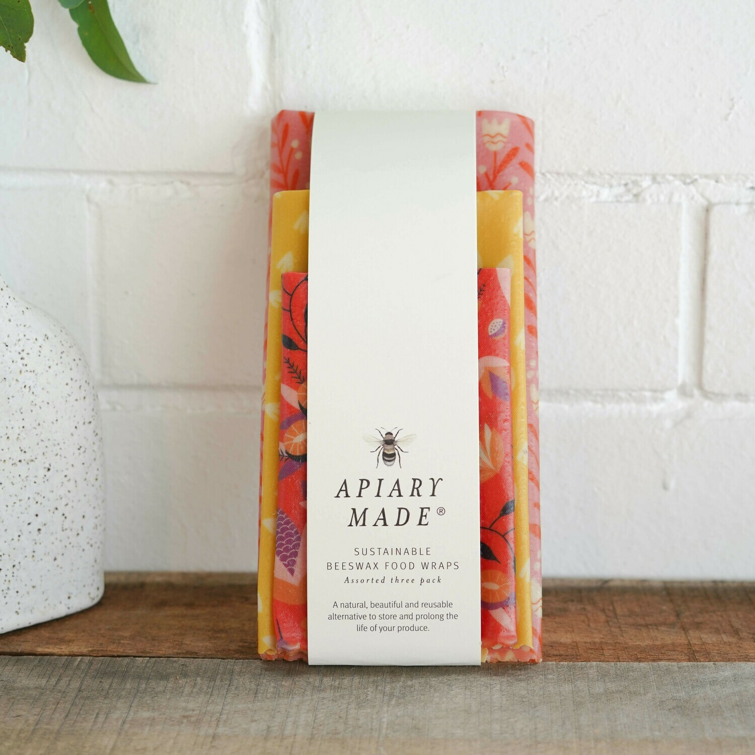 Colourful Kitchen Assorted Beeswax Wraps - 3 Pack