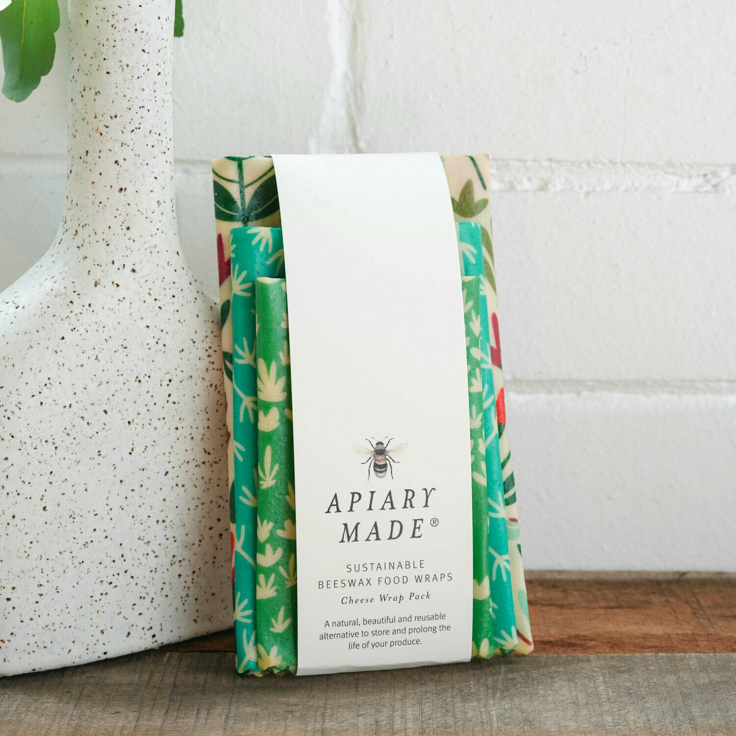 Colourful Cheese Assorted Beeswax Wraps - 3 Pack