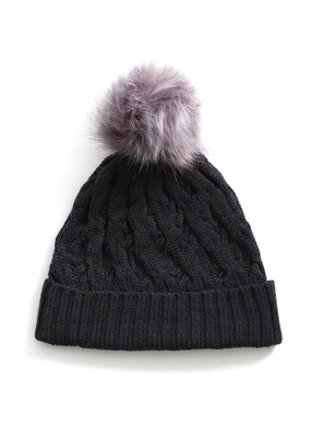 Mabel Beanie - Blackcurrant - 100% Merino Wool