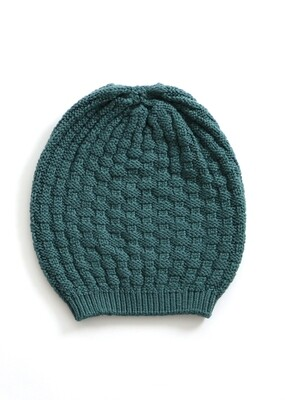 Bellamy Beanie - Teal - 100% Merino Wool