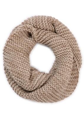 Greta Infinity Scarf - Wheat - 100% Merino Wool