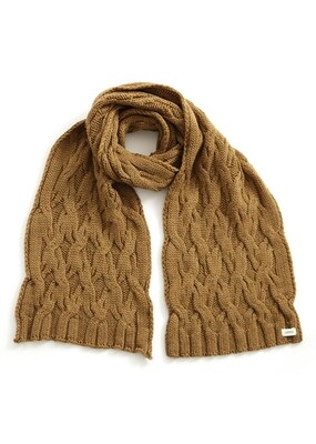 Mabel Scarf - Nutmeg - 100% Merino Wool