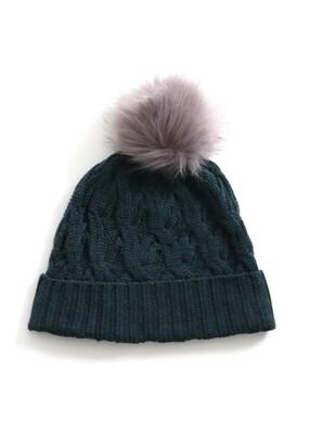 Mabel Beanie - Ivy - 100% Merino Wool