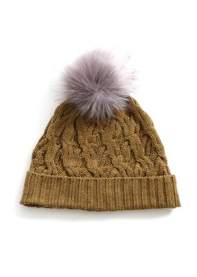 Mabel Beanie - Nutmeg - 100% Merino Wool