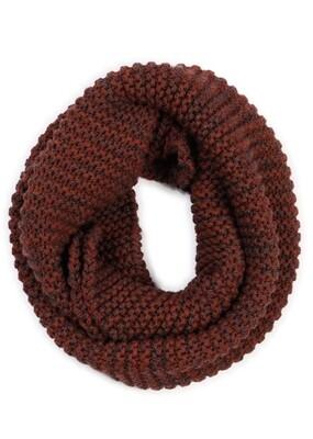 Greta Infinity Scarf - Paprika - 100% Merino Wool