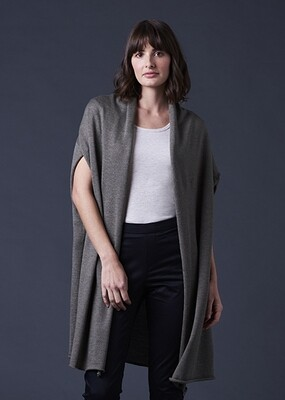 Sascha Longline Collared Cardigan - One Size - Army - 100% Merino Wool