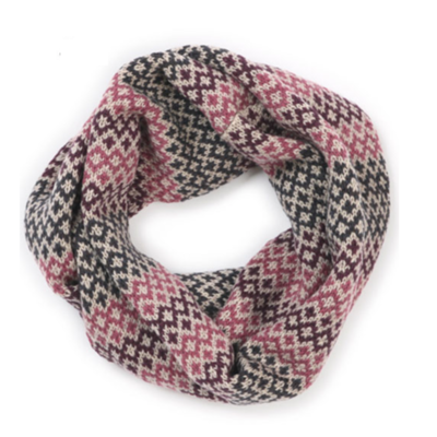 Isla Snood Scarf - Jam - 100% Merino Wool
