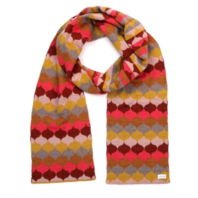 Samara Scarf - Curry - 100% Merino Wool