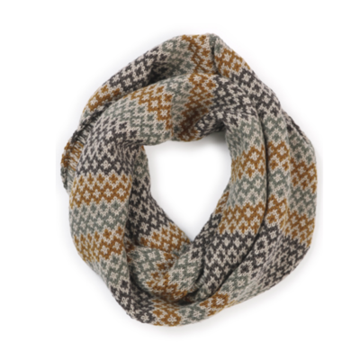 Isla Snood Scarf - Brass - 100% Merino Wool