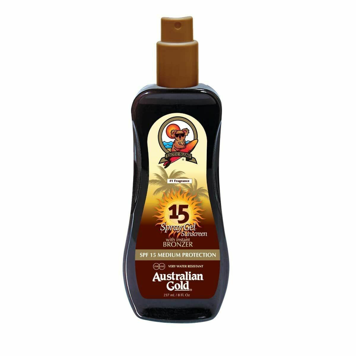 AUSTRALIAN GOLD Spf 15 Spray Gel with Bronzer 237ml - Cocoa Dreams