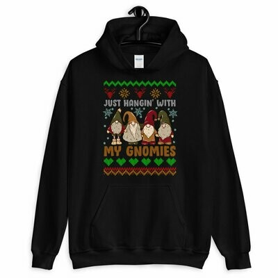 Hangin With Red Gnomies Christmas Shirt, Funny Christmas Shirt, Christmas Gifts, Ugly Christmas Sweaters Hoodie For Men Women, christmas shirts, christmas gifts, shirt for christmas
