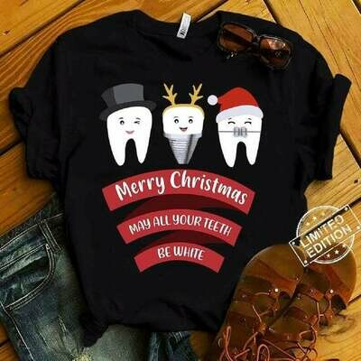 Funny Dentist Teeth Christmas Costume Dental Tooth | funny tooth t-shirt | Christmas Gift | Santa tooth t-shirt | unisex adult tee, Christmas Gift idea, Funny Dentist Teeth, funny tooth t-shirt
