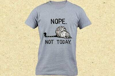 Cute Lazy Cat Shirt, Nope Not Today, Funny Cat Shirt, Gift For Cat Lover, Introvert Kitten Shirt, Pet Lover Shirt, Funny Kitten Shirt, lazy dog shirt, introvert gift idea, not today shirt