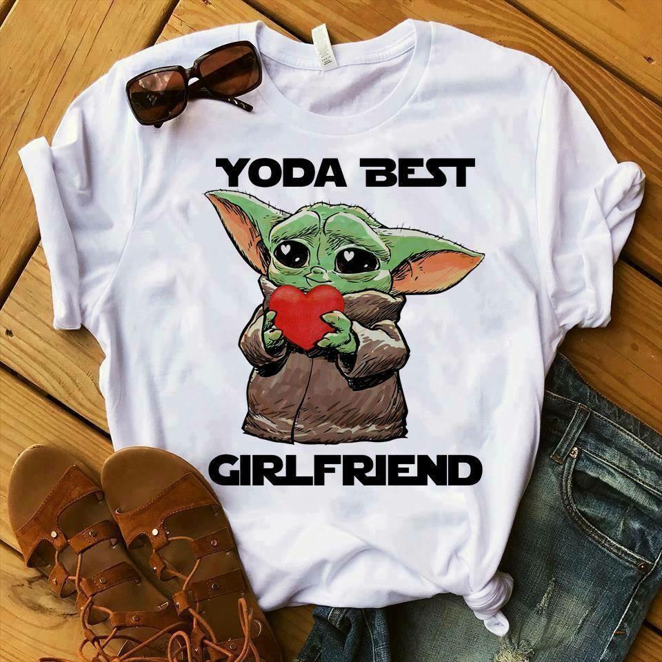 Baby yoda best girlfriend, Baby Yoda Sticker, Valentine's Day, Valentines Gifts For Him Valentines Gifts For Boyfriend, Yoda Best Girlfriend, Valentine Gifts For Him, Valentines Yoda,Baby Yoda shirt