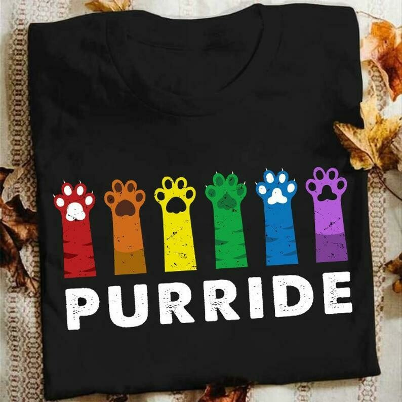 Funny Gay Pride Cat,Rainbow Cat Lover Gift,Funny Gifts Ideas For Gay And Lesbian Cute Gay, Funny Gay T-Shirt, Pride Cat T-Shirt, LGBT Purride Shirt, Gay Rights Tee, Rainbow Cat shirt, Cat Lover Gift