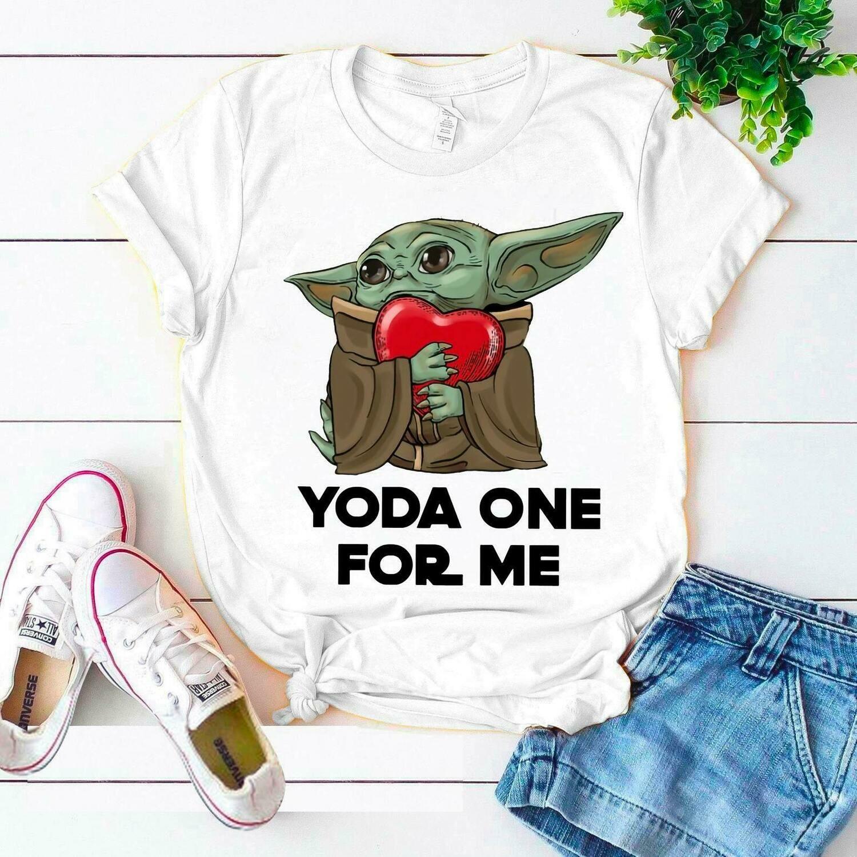 Yoda one for me Baby Yoda Valentines, best valentine gift for her, gift for her, gift for him, his and hers yoda, baby yoda gift, Yoda valentines gift, v-day shirt, baby yoda for v-day, baby yoda wome