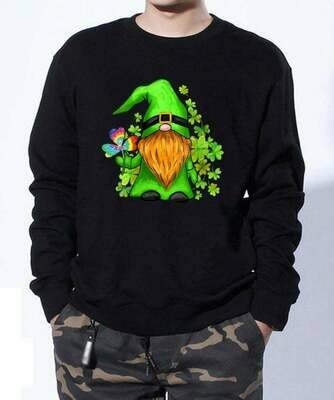 Irish Hippie Gnome lucky Patrick's Day,Gnome Holding Green Shamrocks Four Leaf Clover, Hippie Gnome, Irish Gnomes Shirt, Patricks Day gift, Gnome Hold Shamrocks, The World of David, The Gnome meme