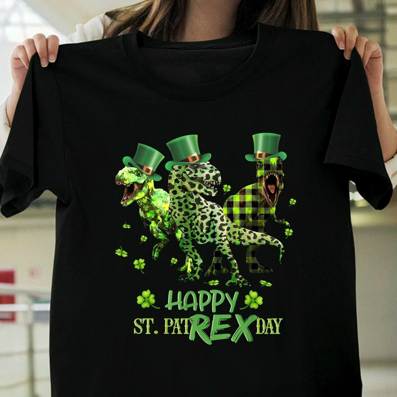 st patrick's happy st pat-rex day t-rex dinosaur funny boys, st patrick's gift, st patrick's shirt, saint patricks, Happy St. Pat-Rex Day, Cute T Rex, Irish Dinosaur, T-Rex St Patrick's Day tee