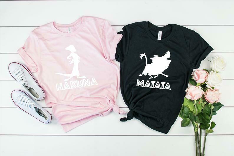 Hakuna Matata Couple Shirts / Disney Couple Shirts / Lion King Matching Shirts / Disney Lion King T-Shirt / Men Women Plus Size