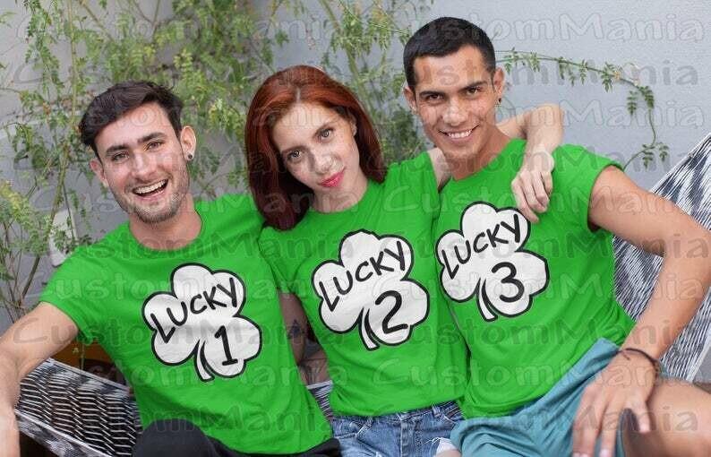 St Patricks Day Shirt, St Patricks Day Shirts, St Patricks Day Shirt Men, St Patricks Day Shirt Women, Irish, Clover, Lucky 1 Lucky 2 Shirts