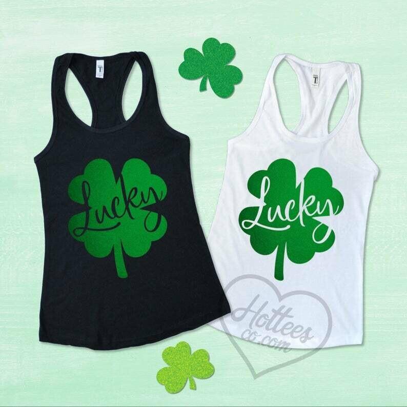 St Patrick's Day Shirt, Lucky Shamrock Shirt, St Patrick's Day Tank Top, Shamrock Shirt, Best Friend Matching Shirts