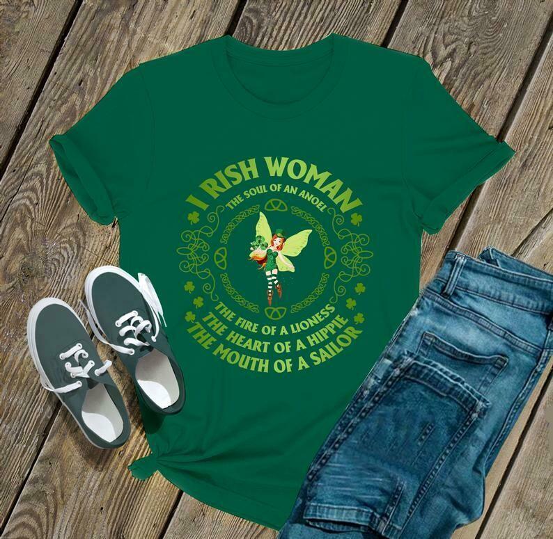 I Irish women the soul of an anoel - Irish Happy St. Patrick's day shirt T-shirt Shamrock shirt - H Tsh2d 020320 4