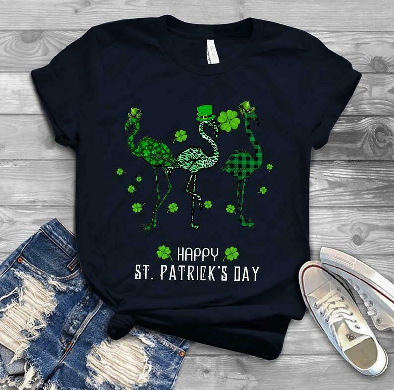 Flamingo Irish - Irish Happy St. Patrick's day shirt T-shirt Shamrock shirt - H Tsh2d 260220 2