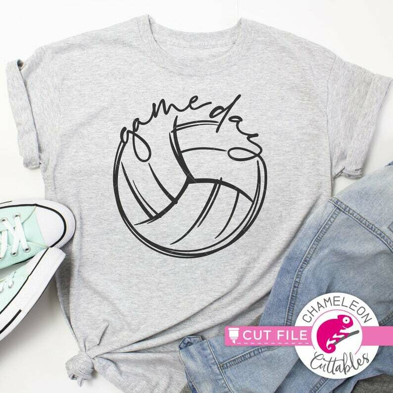Game day design, Volleyball, SVG, DXF, EPS cut file for shirt, for Cutting Machine, Silhouette Cameo, Cricut, Commercial Use Digital Design