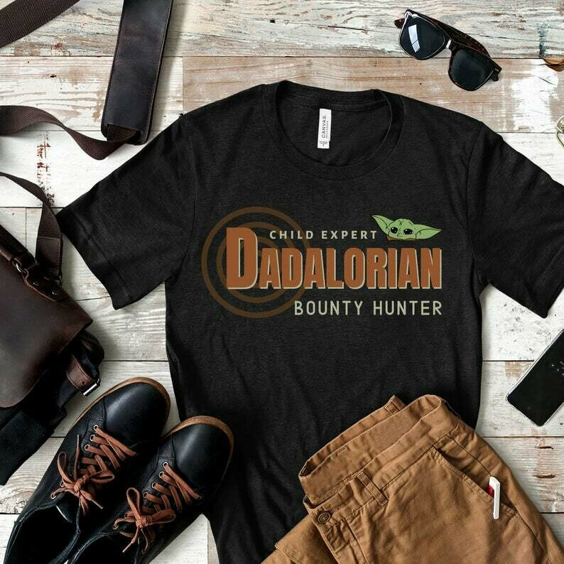 Mandalorian Shirt, Baby Yoda shirt, Disney Dad Shirt