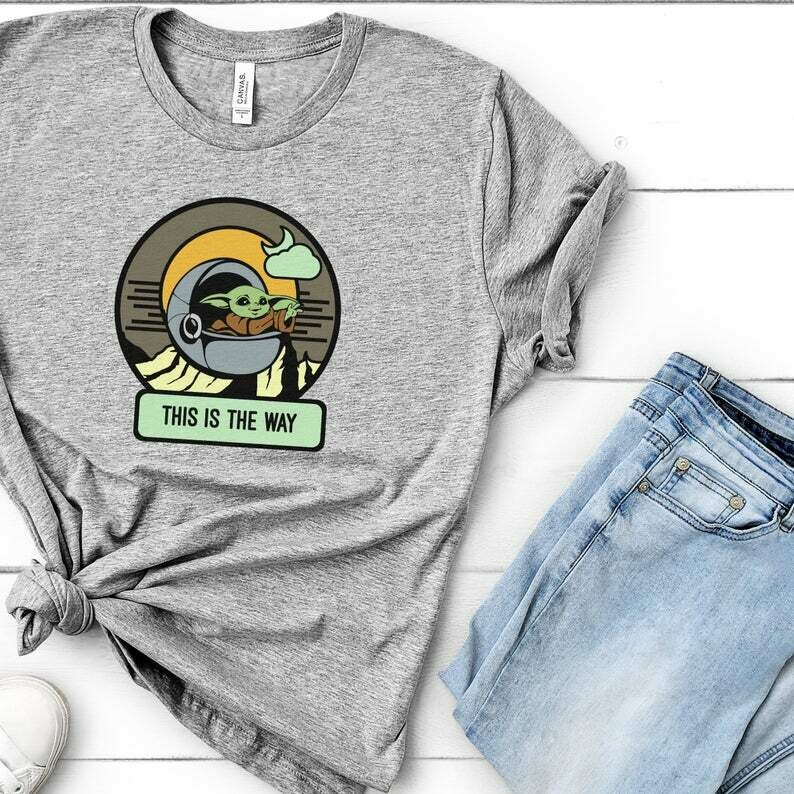 Baby Yoda Shirt, This is the Way, Mandalorian Shirt