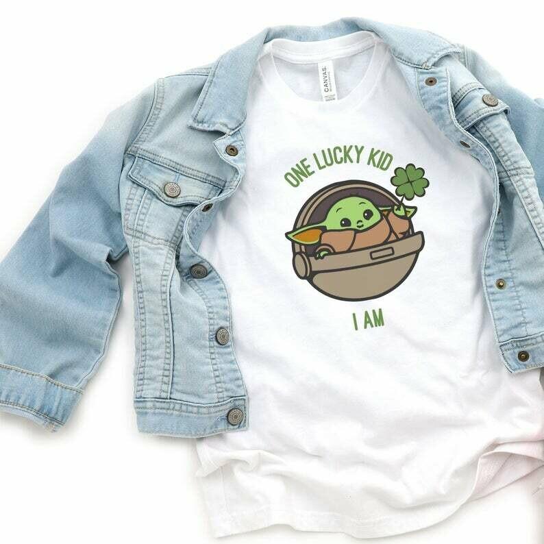 Baby Yoda Youth Shirt, Baby Yoda Kids, Lucky Kid Shirt