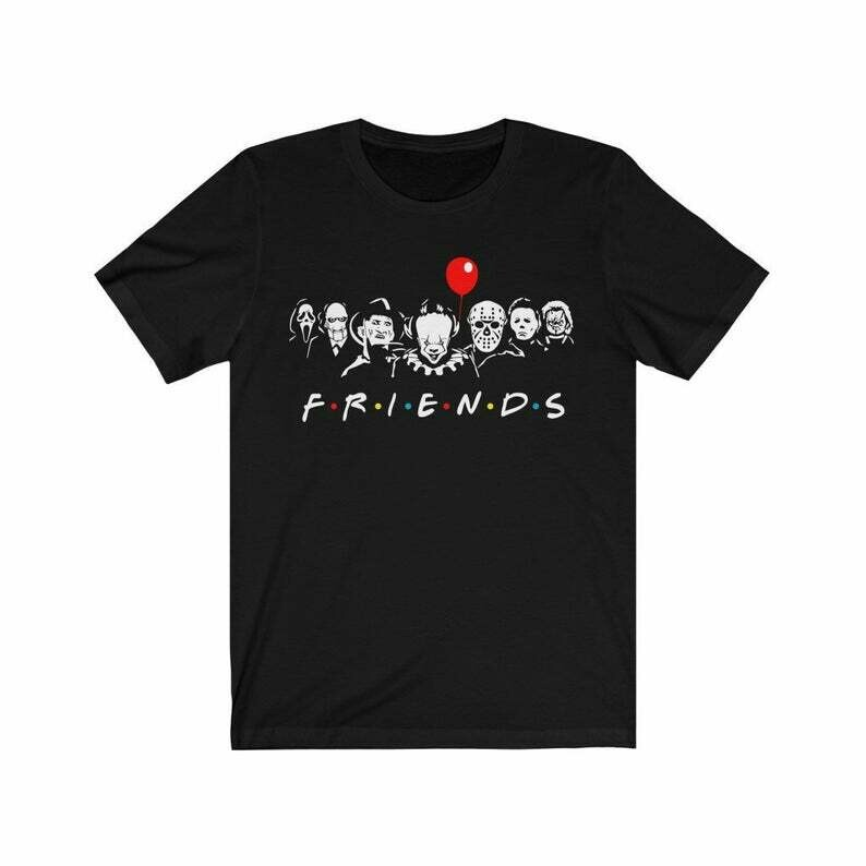 Friends Horror Movie characters / Squad characters / Halloween / Unisex t-shirt