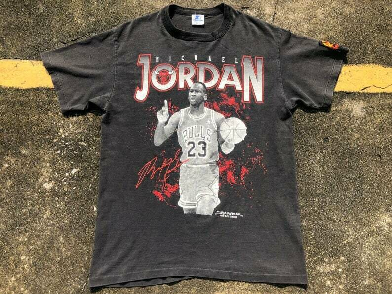 VTG 1989 STARTER Michael Jordan T-Shirt Thrifted by 90s_TPT