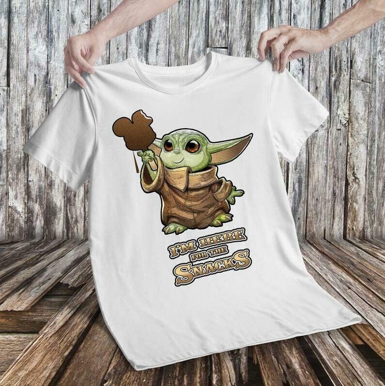Baby Yoda - I'm Here for the Snacks - Disney shirt, Galaxy's Edge Shirt, Star Wars Mickey, Best day ever Disney shirt, Jedi Yoda