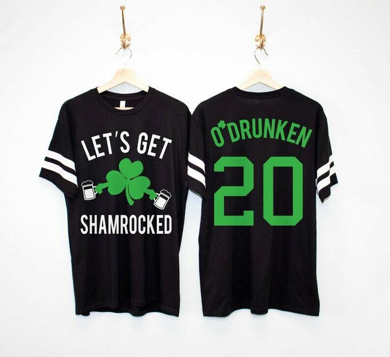 LET'S GET SHAMROCKED Custom Men's St. Patrick's Day Shirt, St. Paddy's Day Shirt, lets get shamrocked shirt, st patricks day shirts men