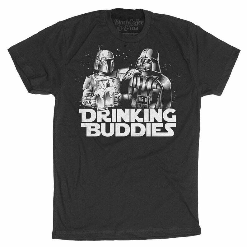 Mens Beer Shirt - Star Wars Drinking Shirt - Star Wars Beer Shirt - Darth Vader Shirt - Boba Fett Men's Shirt - Mens Craft Beer Shirt