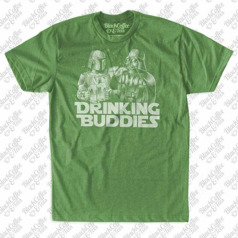 Mens St Patricks Day Star Wars Craft Beer Shirt - Darth Vader Shirt - Boba Fett Men's Shirt - Green St Pattys Day Shirt