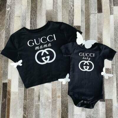 Gucci mama, Gucci baby, matching mama and baby shirts