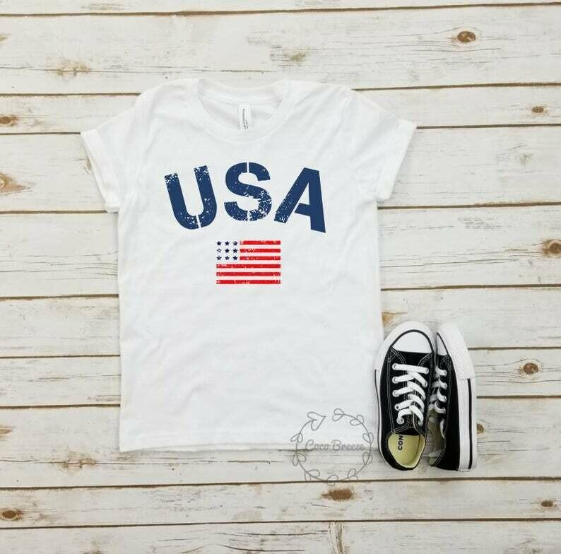 USA flag - unisex youth tshirt. usa flag shirt, american flag, military shirt, memorial day, labor day, july 4, 4th of july tee, patriotic