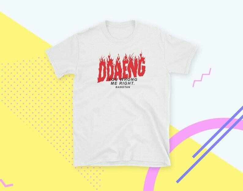DDAENG BTS Shirt Kpop 방탄소년단 Bangtan Sonyeondan Army Shirt
