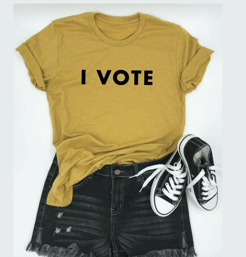 I VOTE. T-Shirt. Women's rights.
