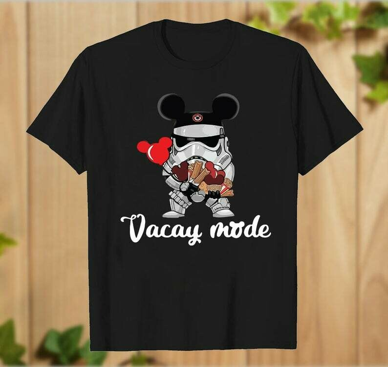 Stormtrooper Soldier Vacay Mode Mickey Mouse Ears Star Wars The Force Awakens Walt Disney Family Vacation Go to Disney World- hung07032020