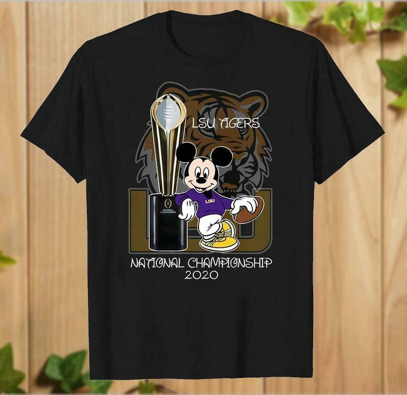 Mickey Mouse LSU Tigers National Championship 2020 Walt Disney World Louisiana State University Football Club T-Shirt - hung06032020
