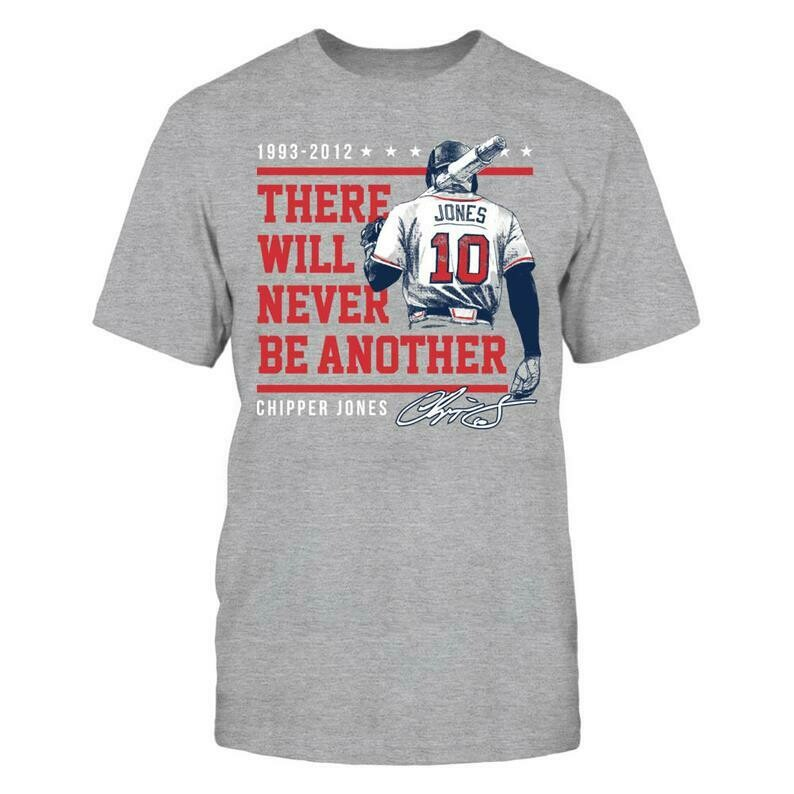 Chipper Jones T-shirt - There Will Never Be Another - District Men's Premium T-shirt - Georgia - Free Shipping - Officially Licensed Apparel