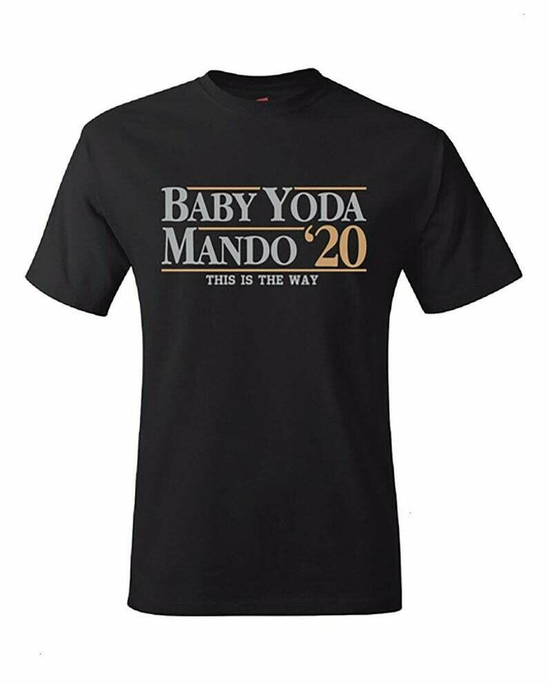 Baby Yoda Mando'20 This Is The Way Star Wars The Mandalorian Portrait Helmet Sticker Bounty Hunter Galaxy Edge Boba Fett T-Shirt
