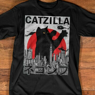 Catzilla Cat Godzilla Japanese Version2 shirt