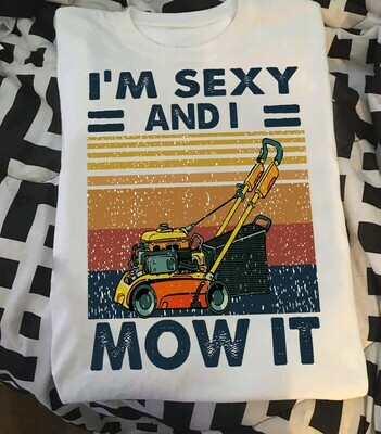 I'm sexy and i mow it vintage shirt for men woman